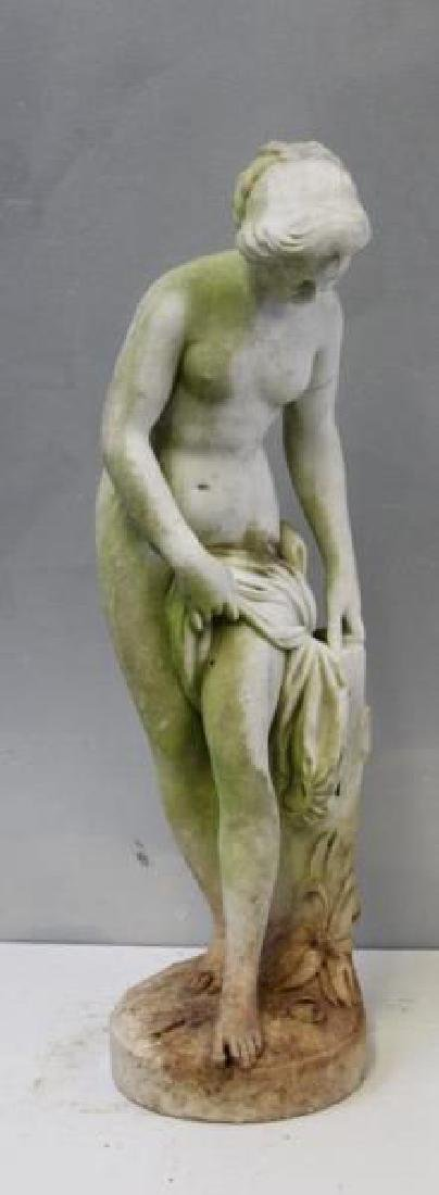 APPARENTLY Unsigned. Marble Female Nude Statue.