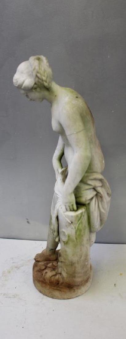 APPARENTLY Unsigned. Marble Female Nude Statue. - 4