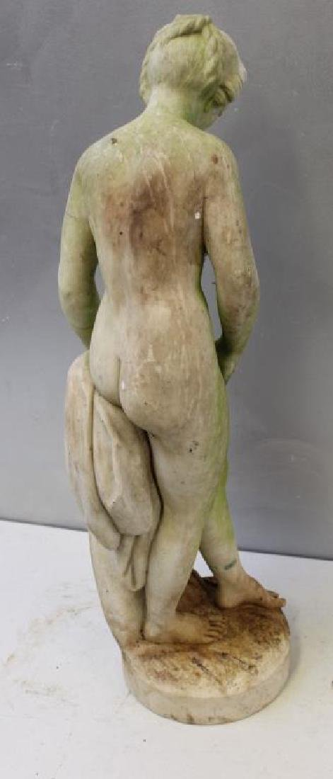 APPARENTLY Unsigned. Marble Female Nude Statue. - 5