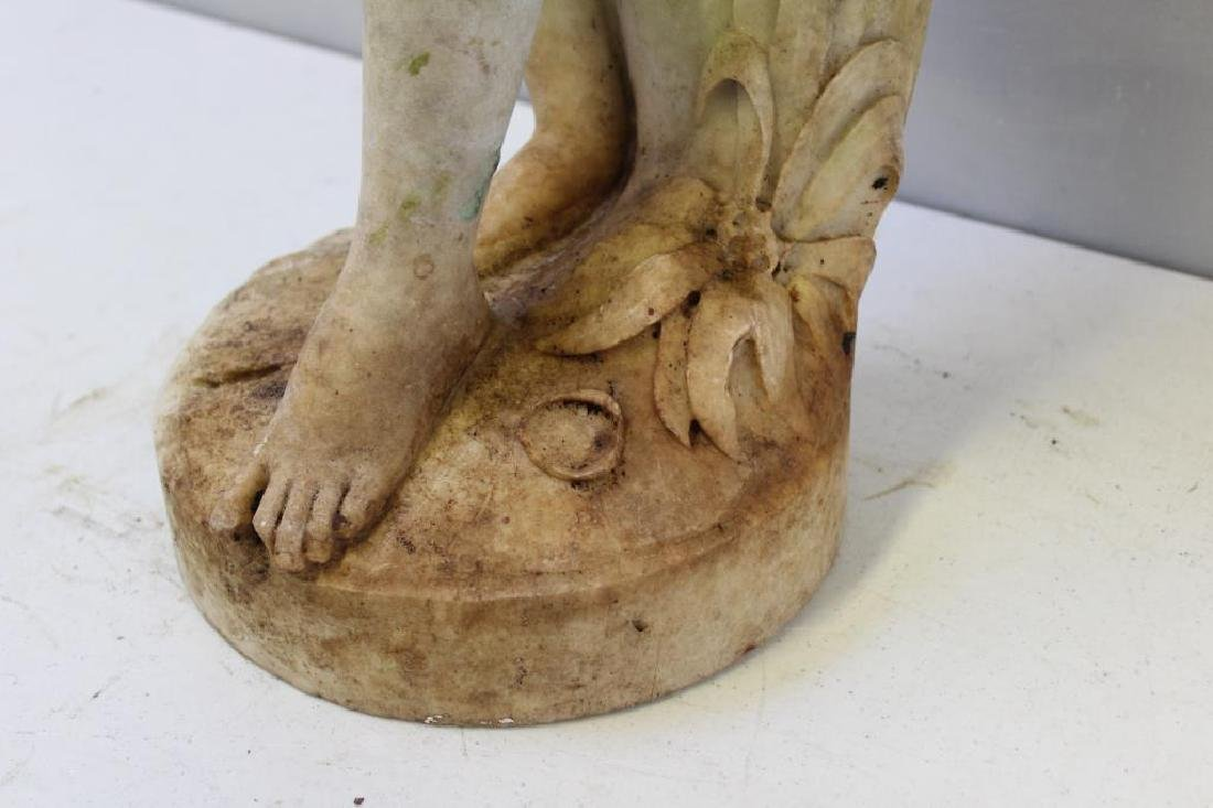 APPARENTLY Unsigned. Marble Female Nude Statue. - 6