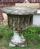 Pair of Antique Marble Pedestal Urns