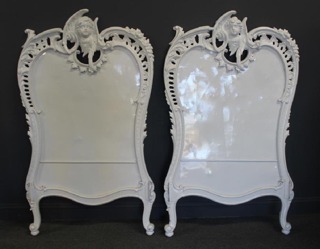 2 Victorian Iron Twin Beds with Benches. - 2