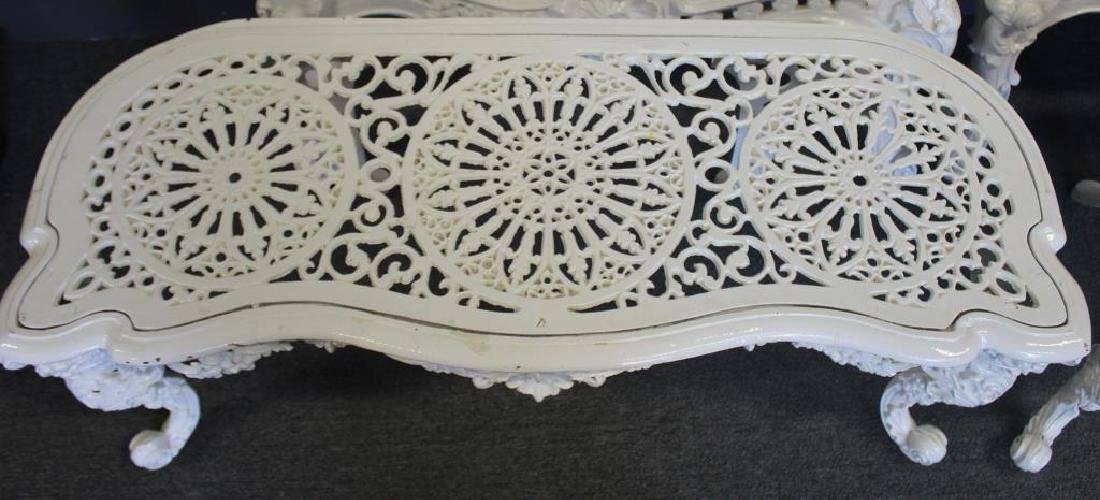 2 Victorian Iron Twin Beds with Benches. - 7