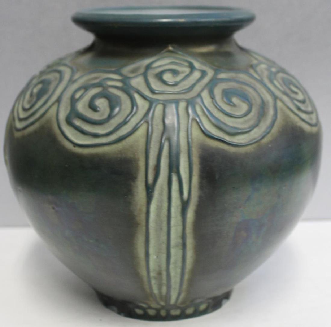 AMPHORA. Signed Pottery Vase.