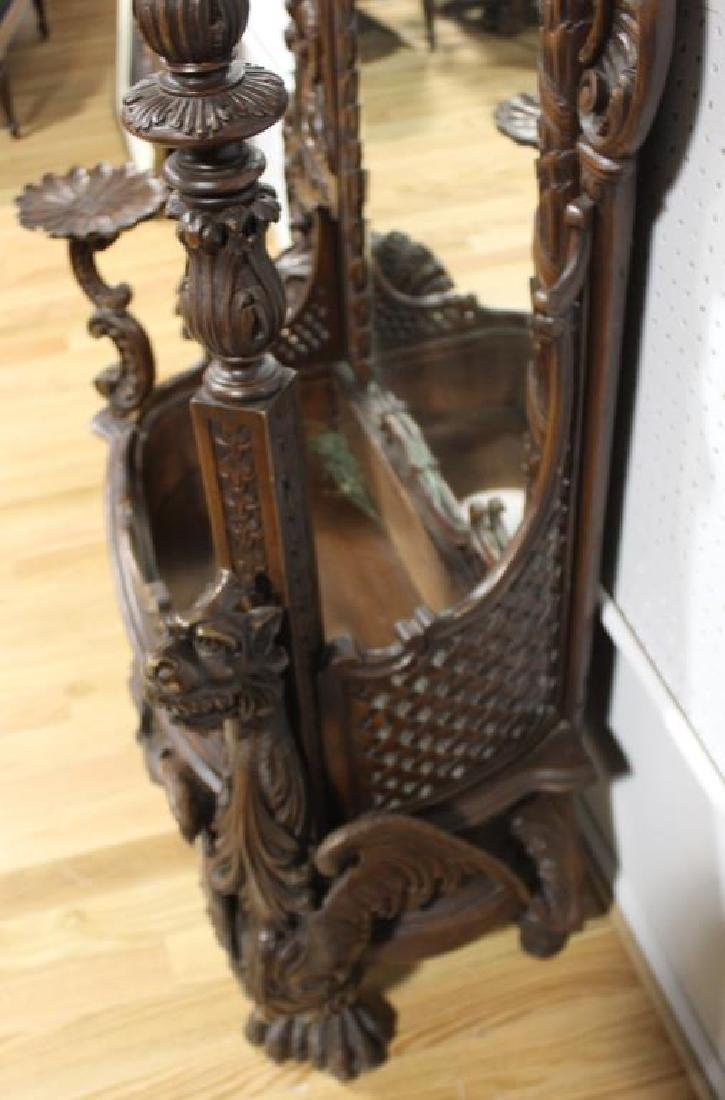 Large and Impressive Highly Carved Mahogany - 10