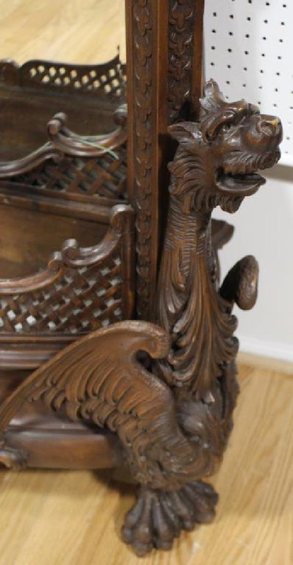 Large and Impressive Highly Carved Mahogany - 3