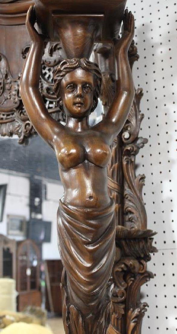 Large and Impressive Highly Carved Mahogany - 4