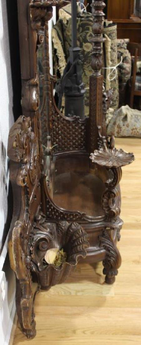 Large and Impressive Highly Carved Mahogany - 9