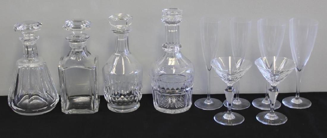 BACCARAT. Lot of Decanters and 6 Stems.