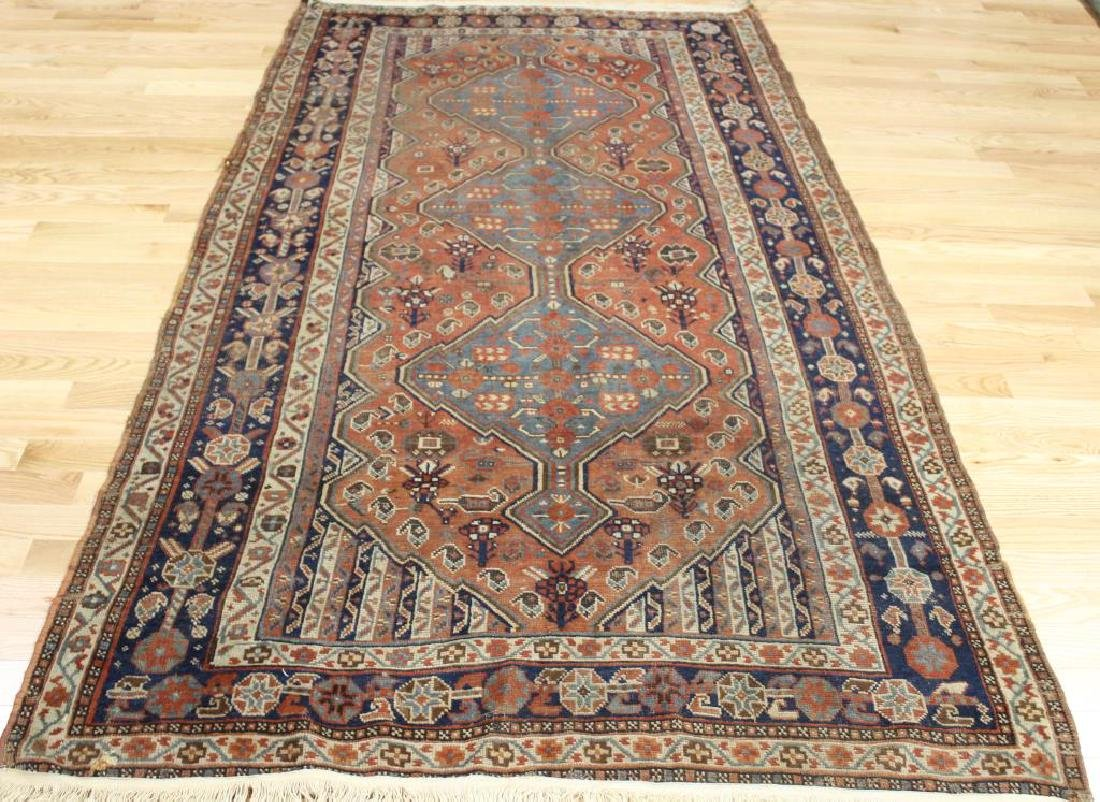 Antique and Finely Hand Woven Afghar ?Carpet .