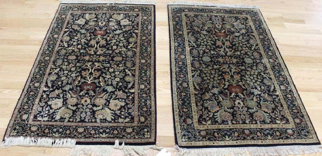Pair of Vintage and finely Hand Woven Area