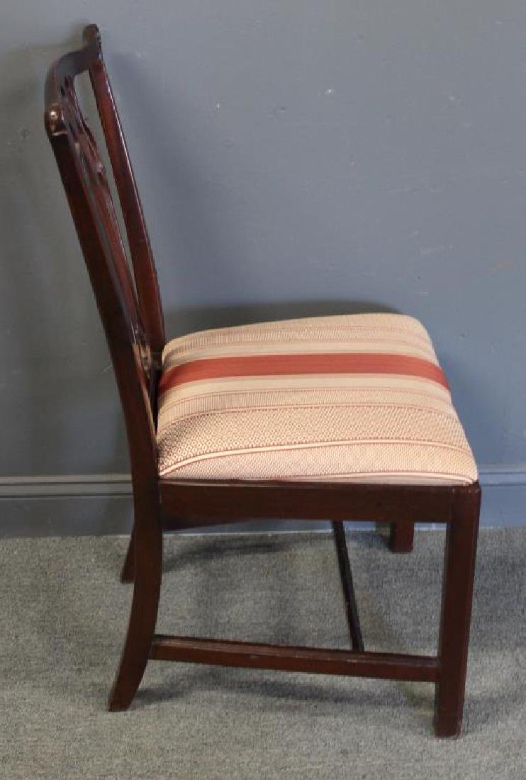 Set of 12 Mahogany Hepplewhite Style Chairs Signed - 4