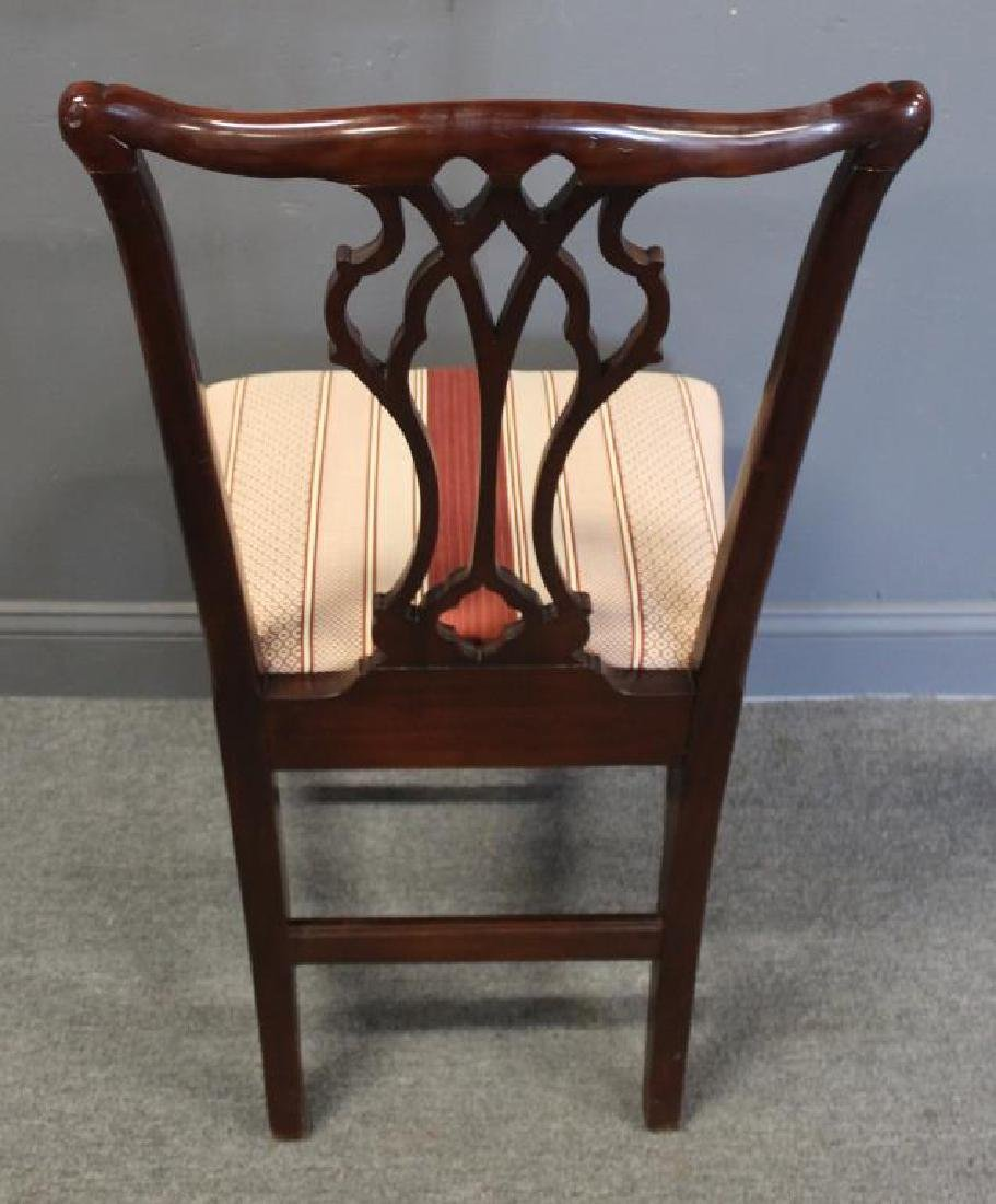 Set of 12 Mahogany Hepplewhite Style Chairs Signed - 5