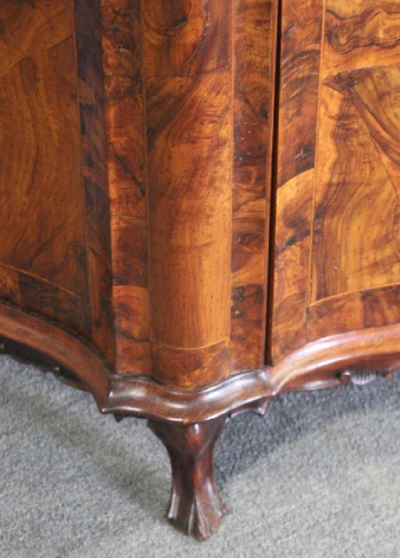 Antique Continental Serpentine Front Walnut - 5