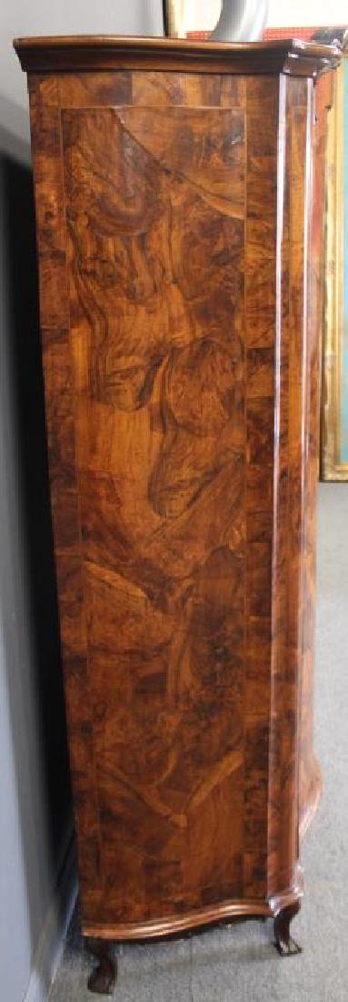 Antique Continental Serpentine Front Walnut - 7