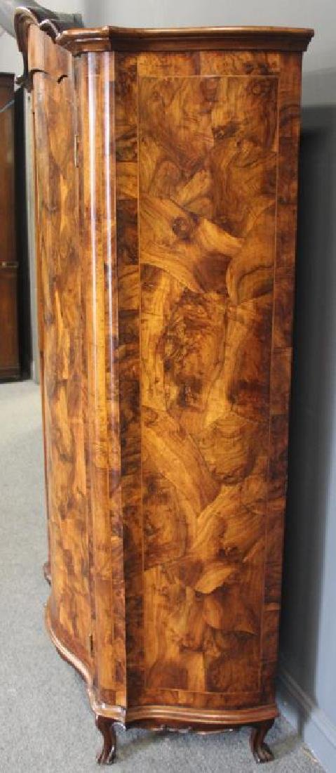 Antique Continental Serpentine Front Walnut - 8