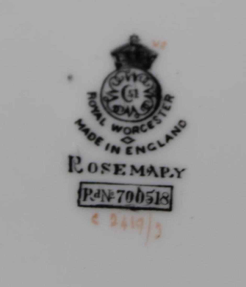 """Royal Worcester """"Rosemary"""" Porcelain Together - 6"""