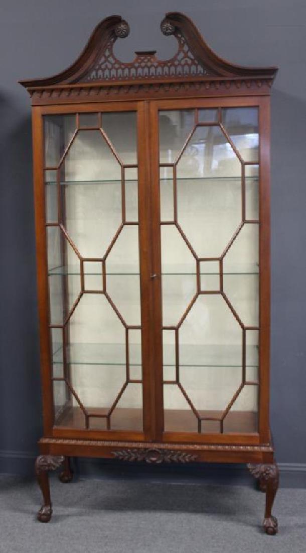 Impressive Antique Mahogany Chippendale Style