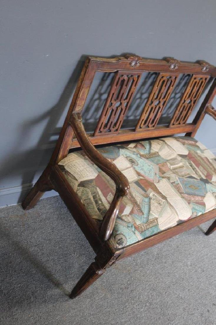 Antique Continental Settee. - 4