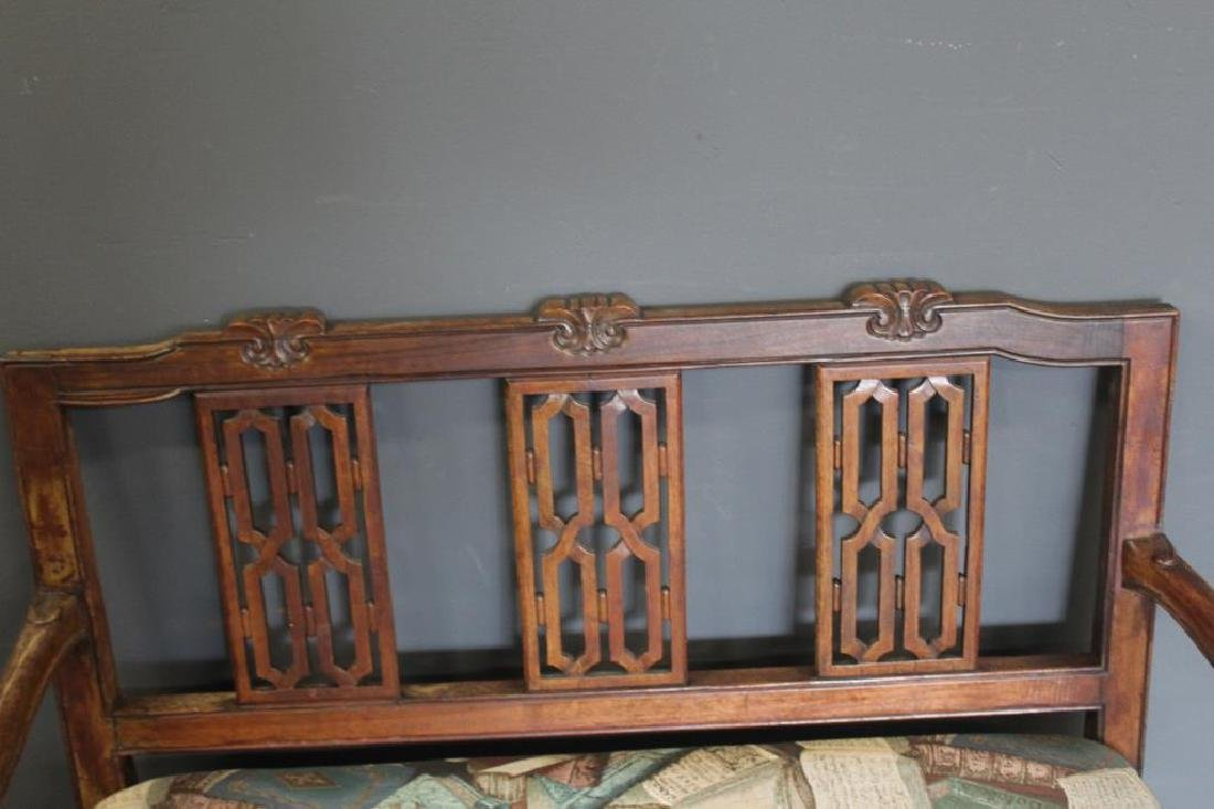 Antique Continental Settee. - 5