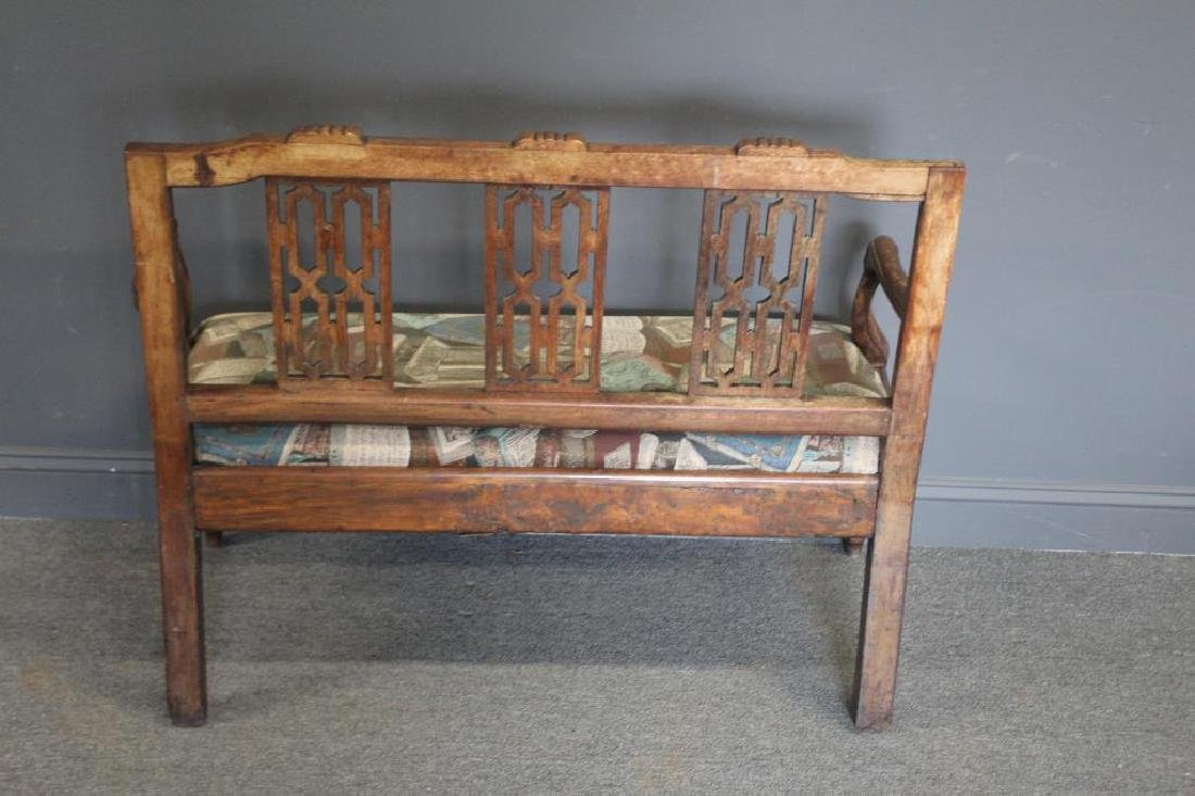 Antique Continental Settee. - 6