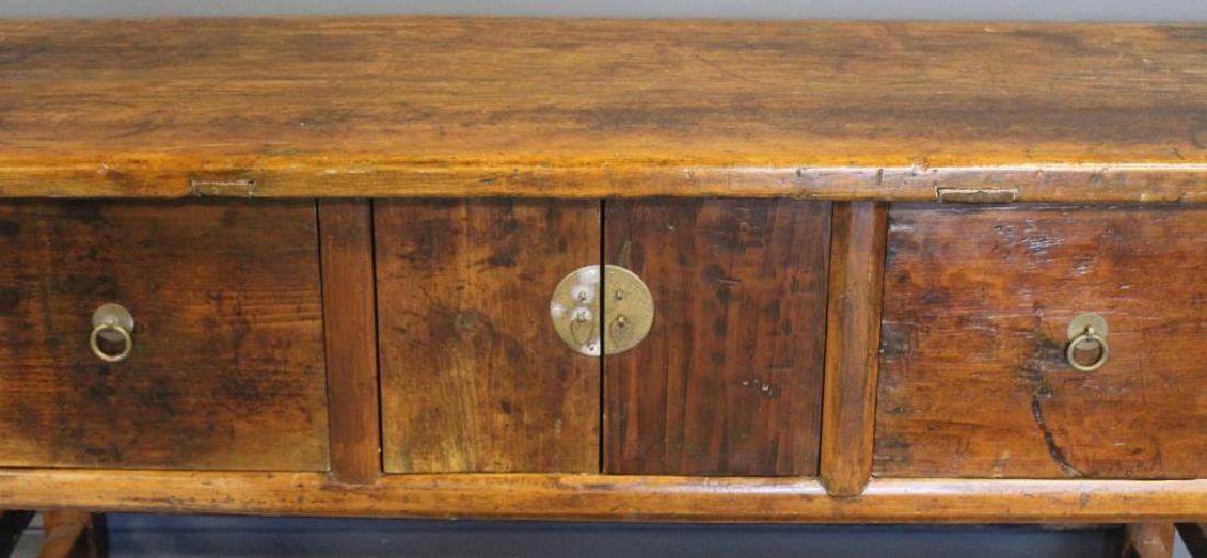 Antique Asian 2 Drawer 2 Door Sideboard. - 3