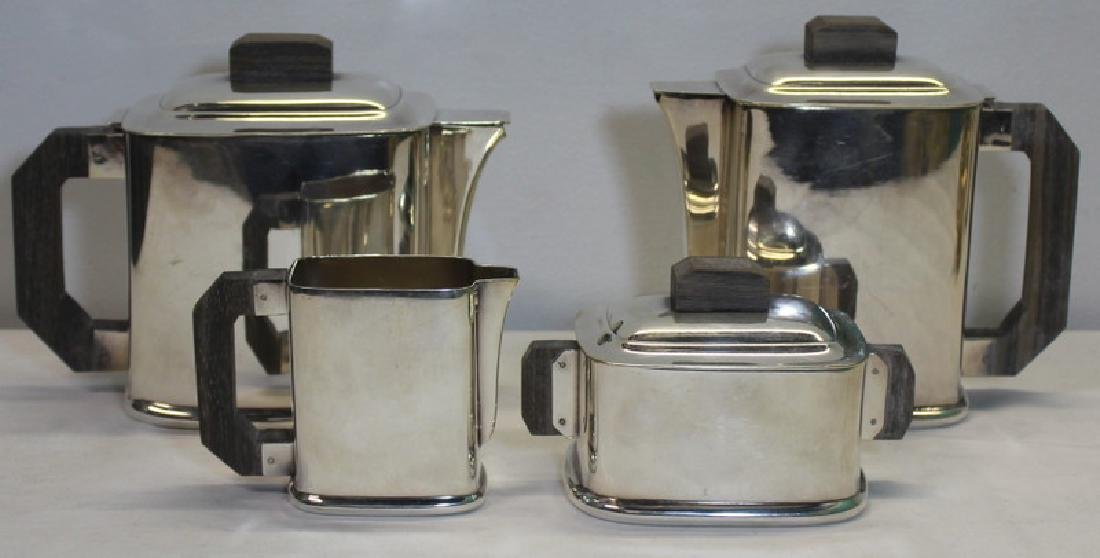 SILVER-PLATE. French Art Deco Ercuis Tea Service.