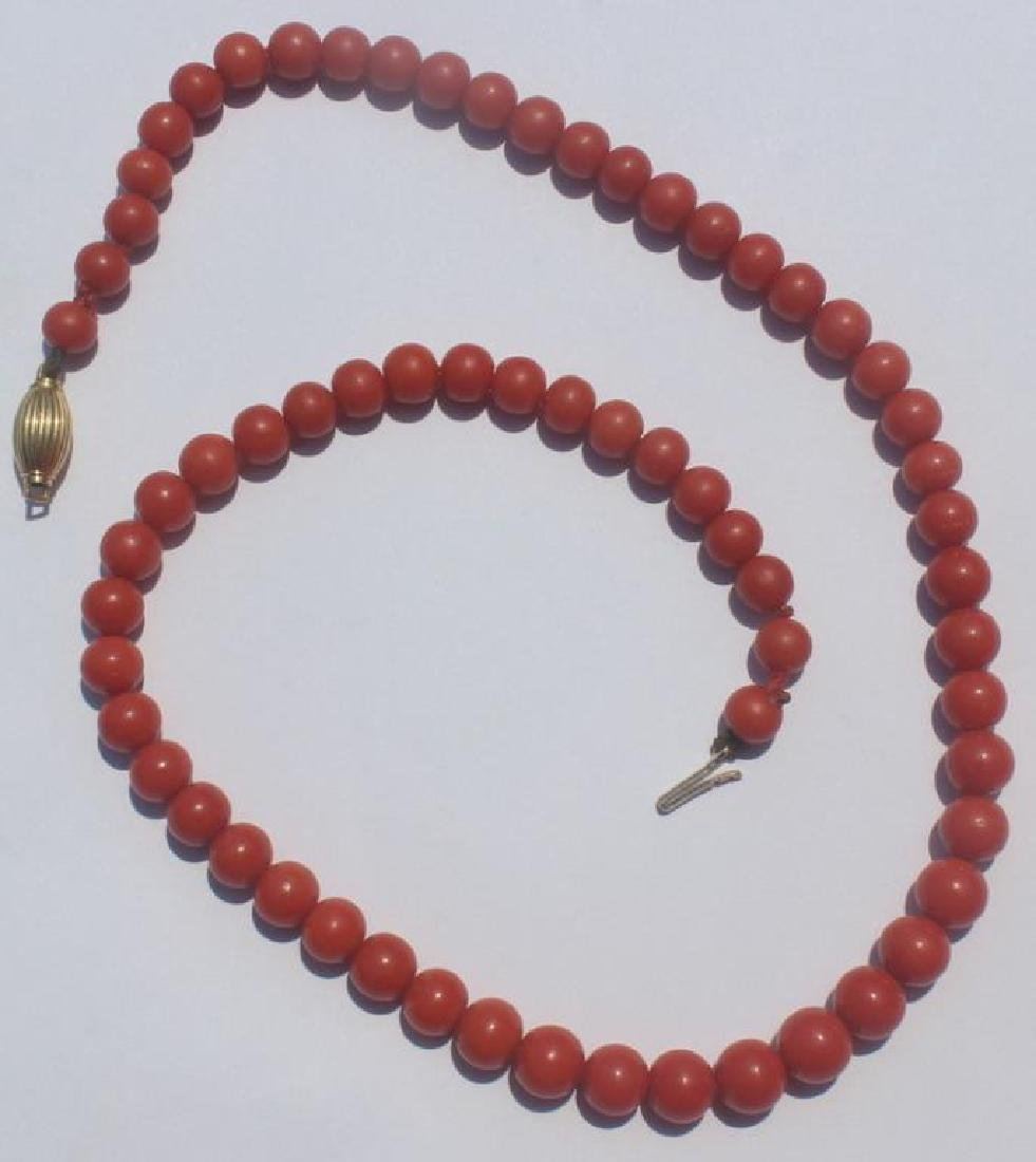 JEWELRY. Assorted Coral Necklace Grouping. - 6