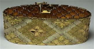 JEWELRY. Italian Brevet 18kt Gold Bracelet.