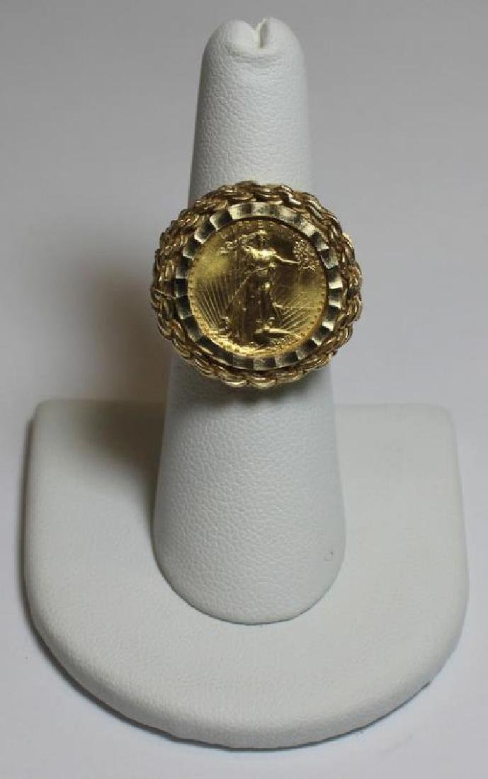 JEWELRY. US $5 Gold Coin Mounted as Jewelry Group. - 2