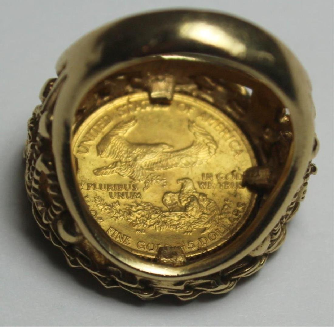 JEWELRY. US $5 Gold Coin Mounted as Jewelry Group. - 4