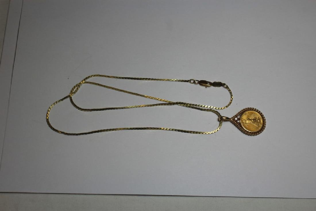 JEWELRY. US $5 Gold Coin Mounted as Jewelry Group. - 6