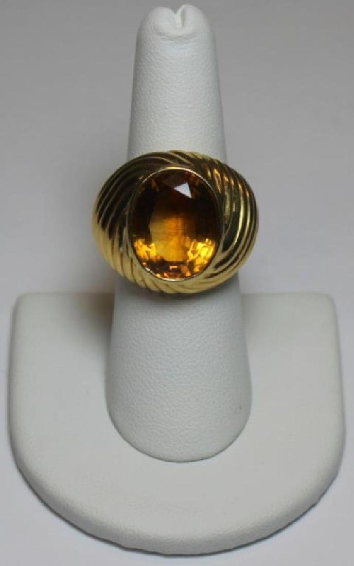 JEWELRY. 18kt Gold and Colored Gem Cocktail Ring.