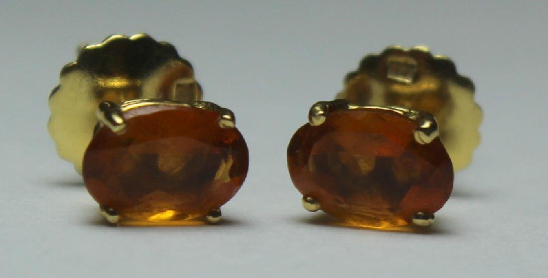 JEWELRY. Pair of H. Stern 18kt Gold and Citrine