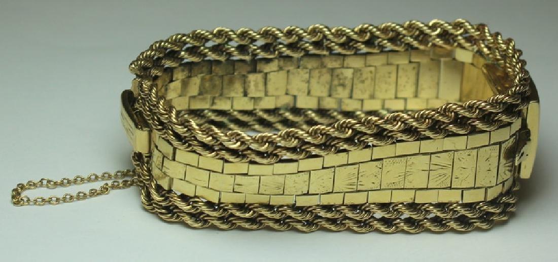 JEWELRY. Omega 14kt Gold Bracelet with Hidden - 2