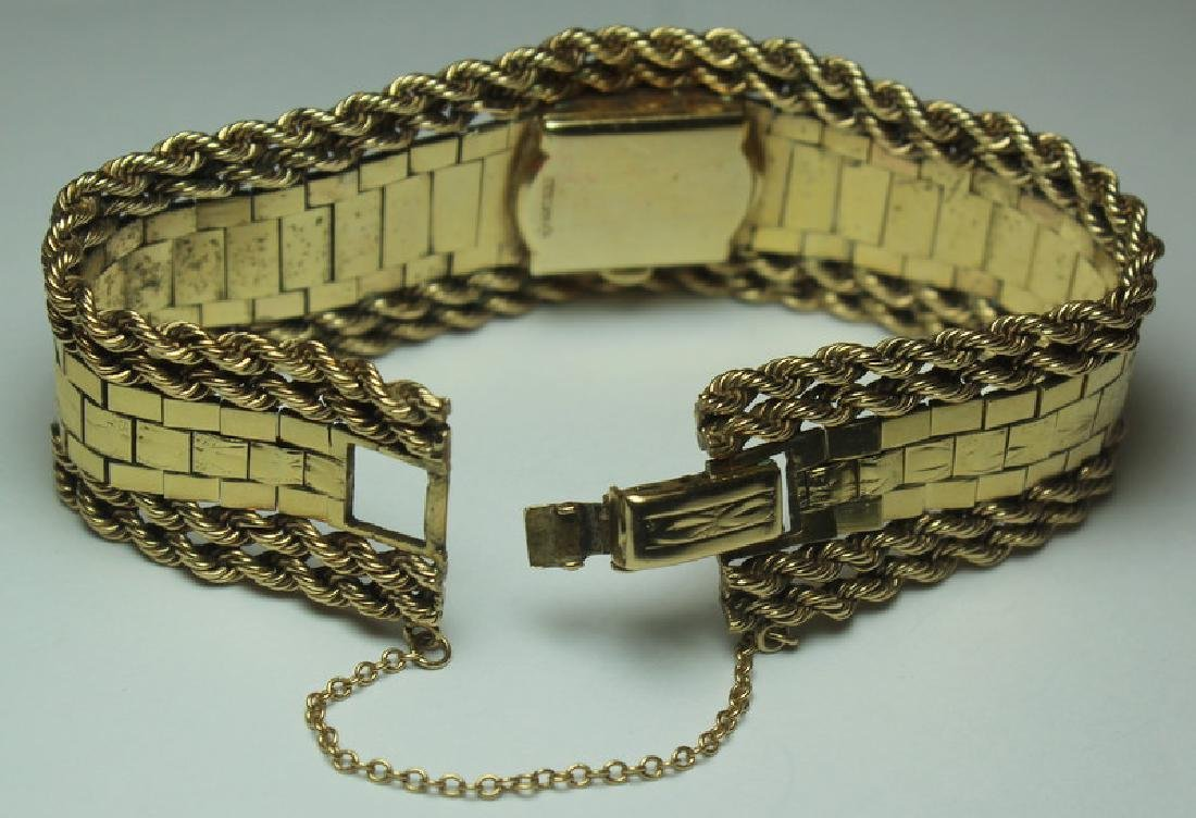 JEWELRY. Omega 14kt Gold Bracelet with Hidden - 4