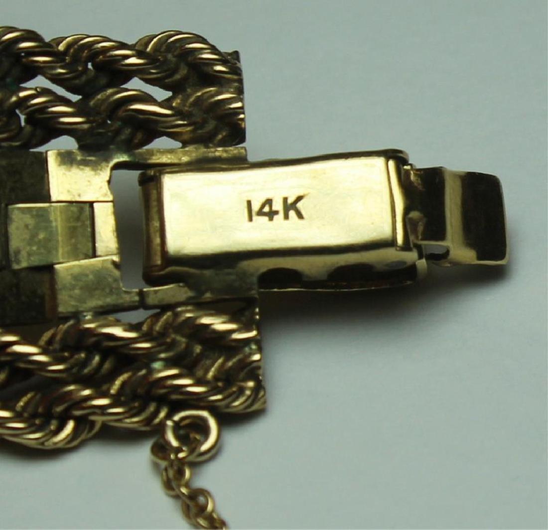 JEWELRY. Omega 14kt Gold Bracelet with Hidden - 5