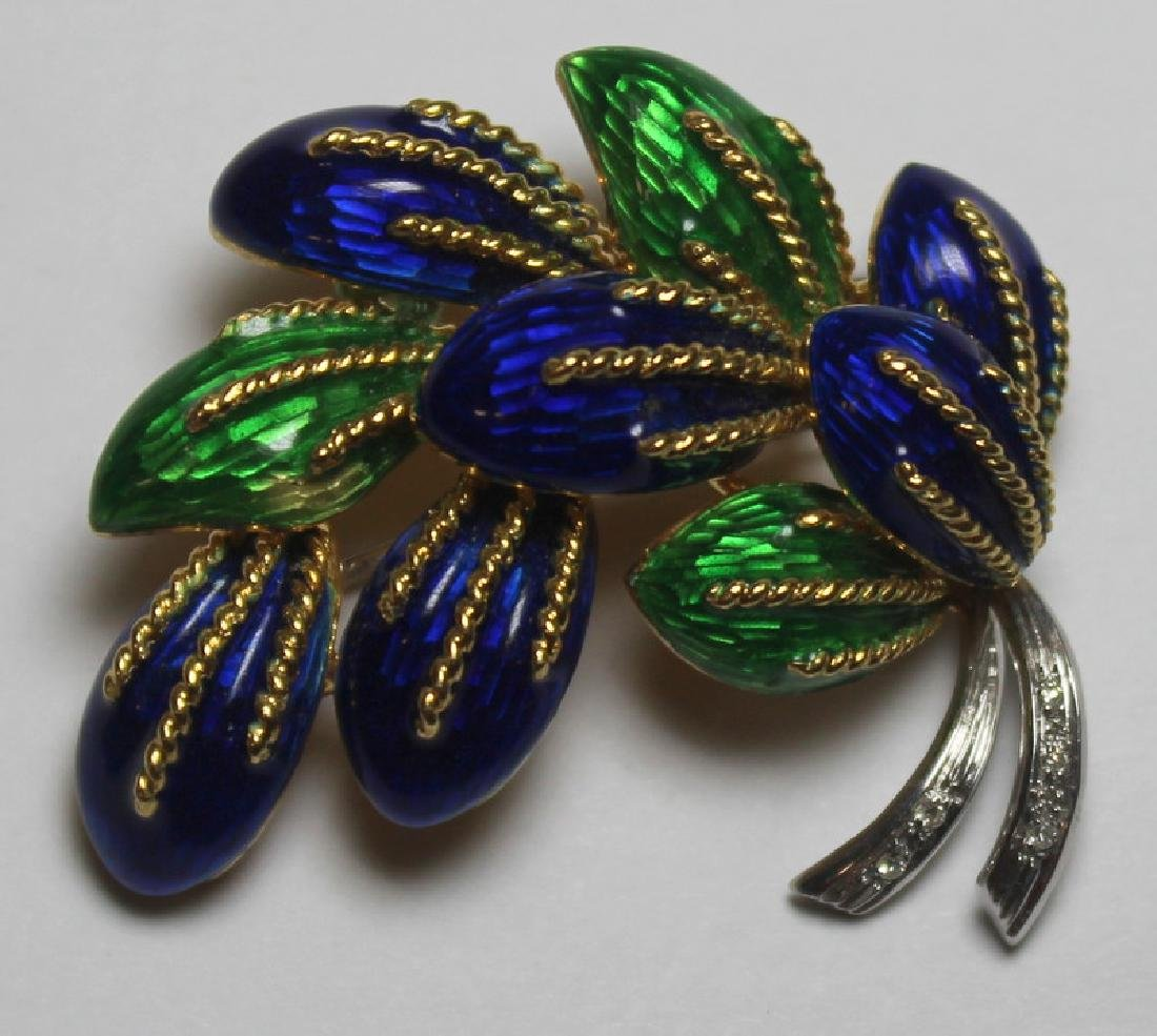 JEWELRY. 3 Pc. Italian 18kt Gold and Enamel Suite. - 2