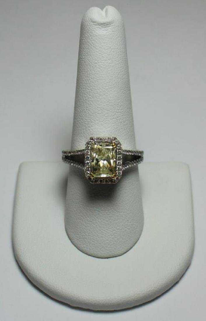 JEWELRY. 18kt Gold and Yellow Diamond Engagement