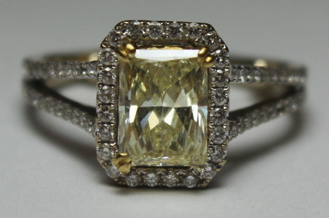 JEWELRY. 18kt Gold and Yellow Diamond Engagement - 2