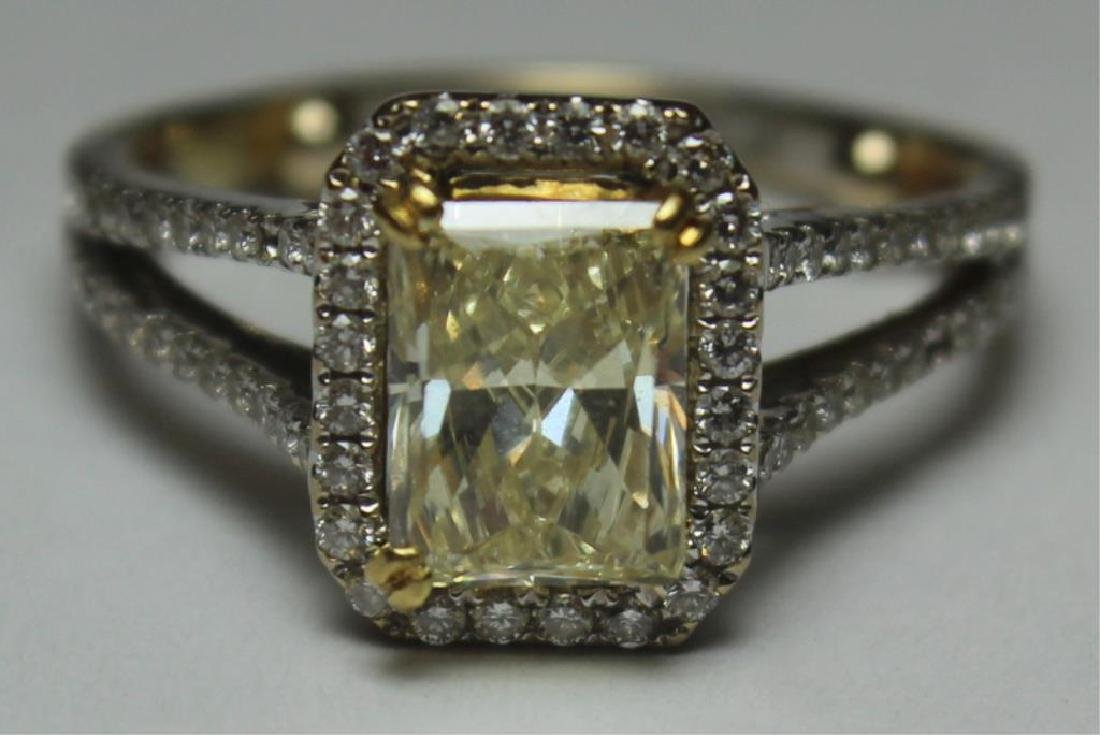 JEWELRY. 18kt Gold and Yellow Diamond Engagement - 3