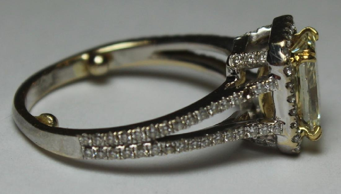 JEWELRY. 18kt Gold and Yellow Diamond Engagement - 5