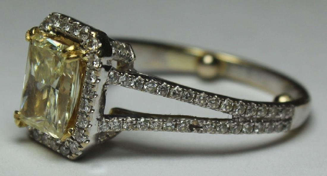 JEWELRY. 18kt Gold and Yellow Diamond Engagement - 7