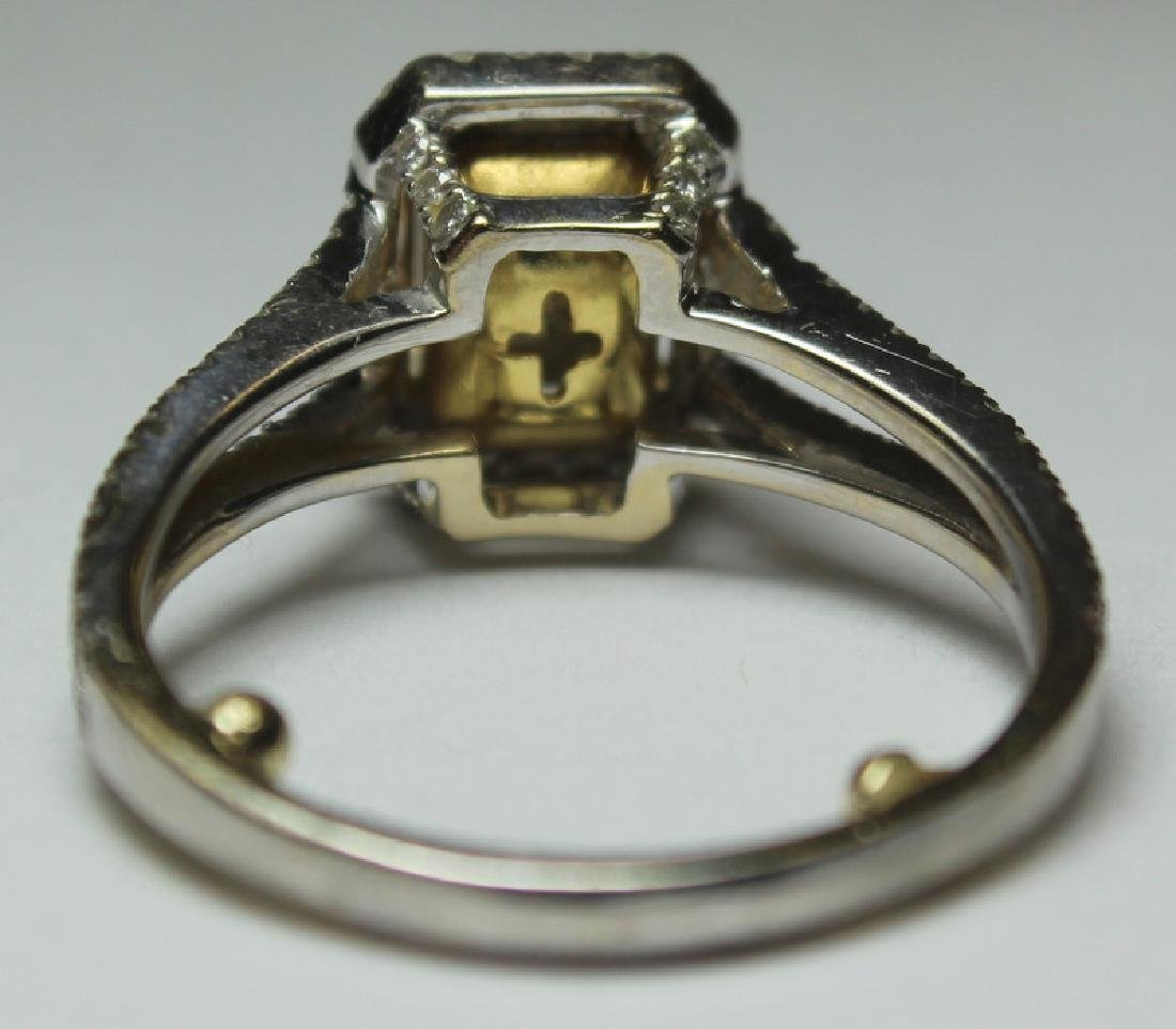 JEWELRY. 18kt Gold and Yellow Diamond Engagement - 9