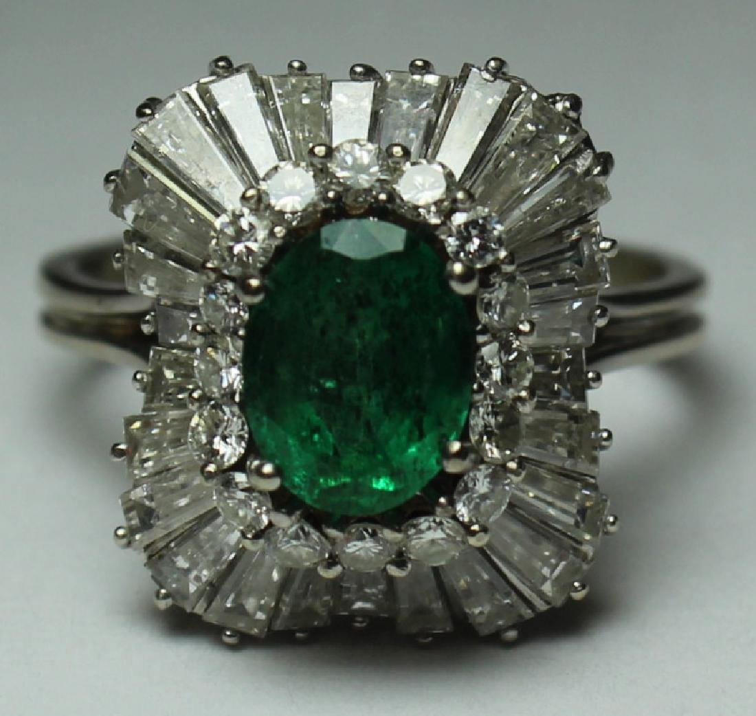 JEWELRY. Emerald and Diamond Cocktail Ring.