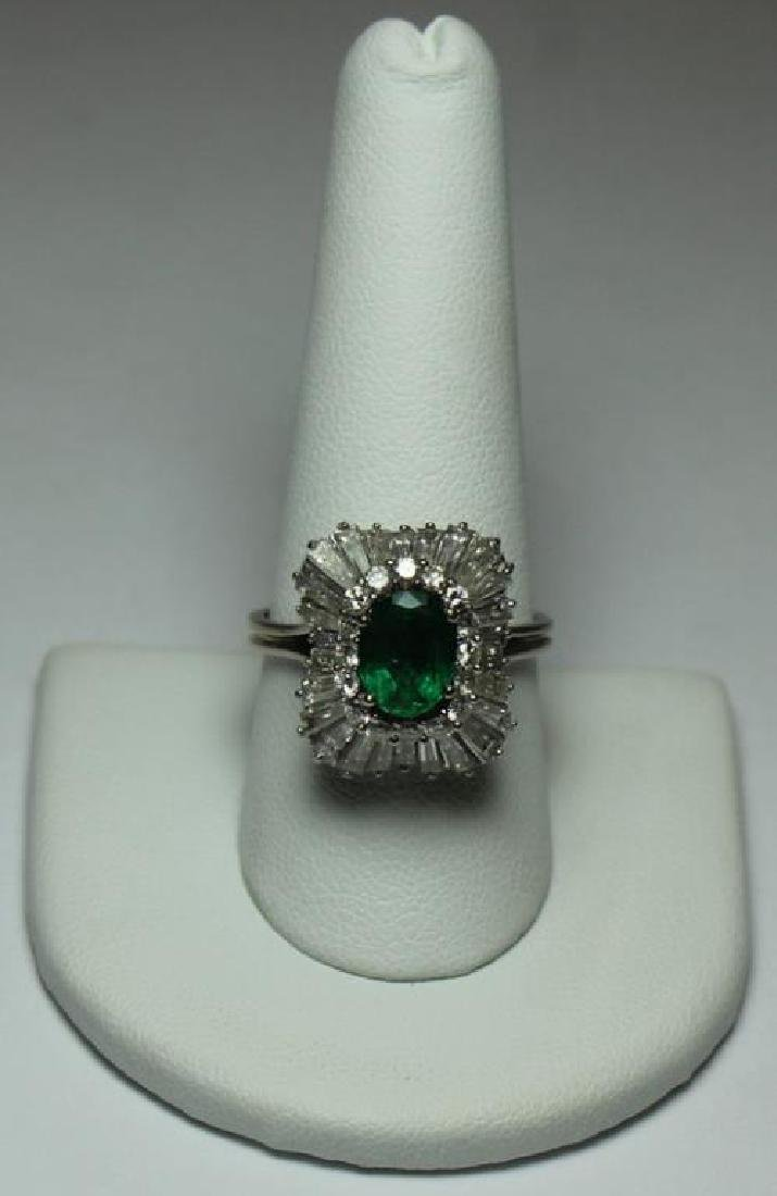 JEWELRY. Emerald and Diamond Cocktail Ring. - 2