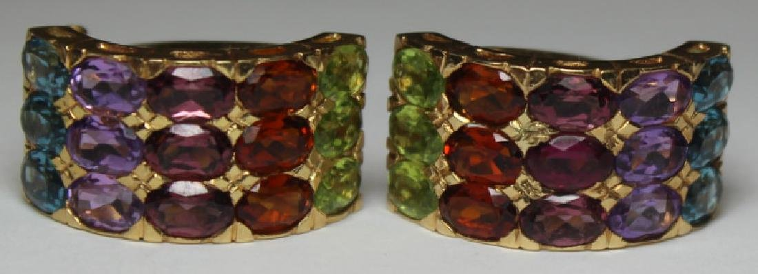 JEWELRY. 14kt Gold and Colored Gem Suite. - 2