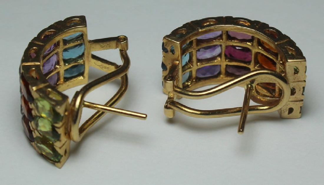 JEWELRY. 14kt Gold and Colored Gem Suite. - 3