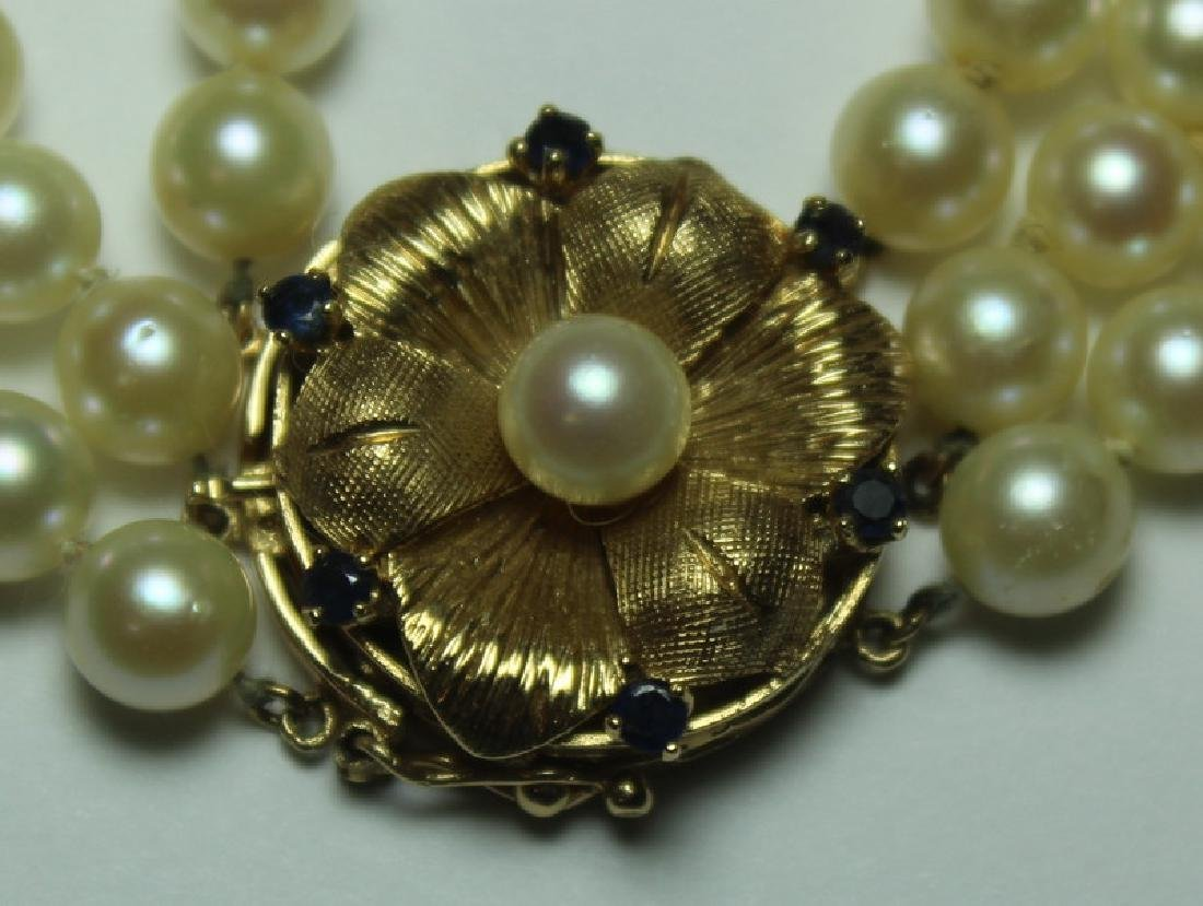 JEWELRY. Sapphire and Pearl Jewelry Suite. - 11
