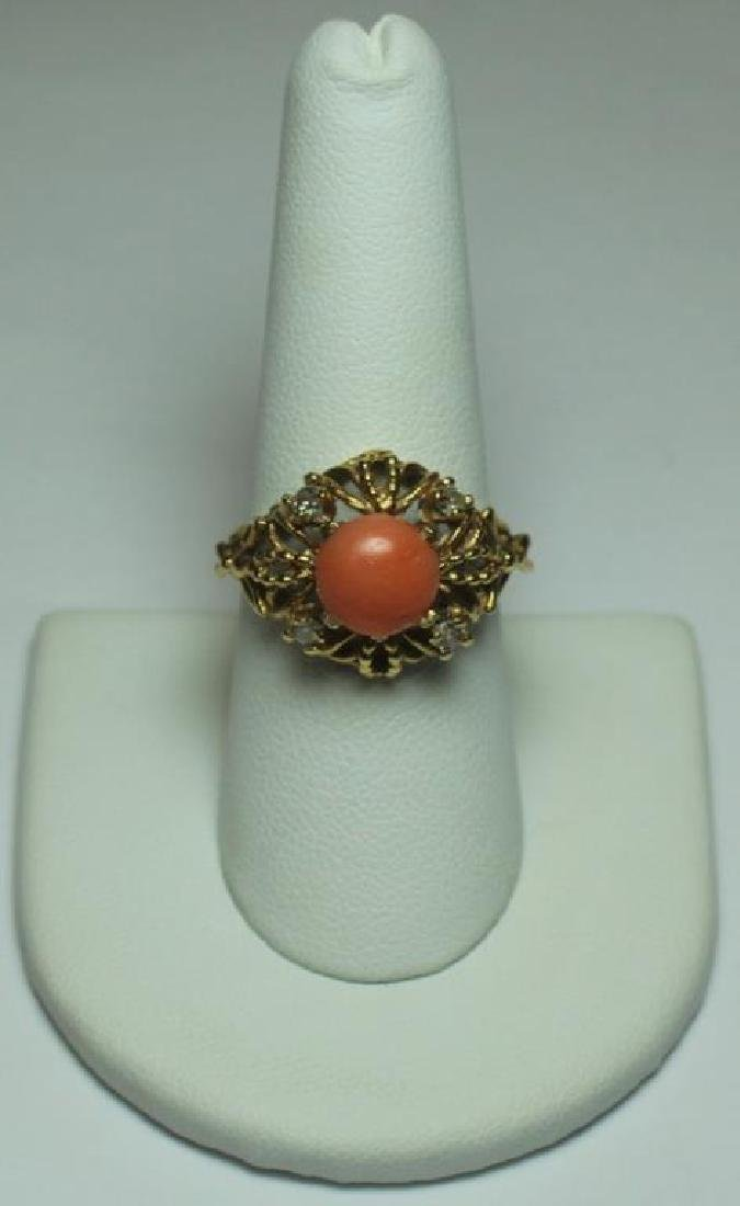 JEWELRY. Assorted Gold and Coral Jewelry. - 2